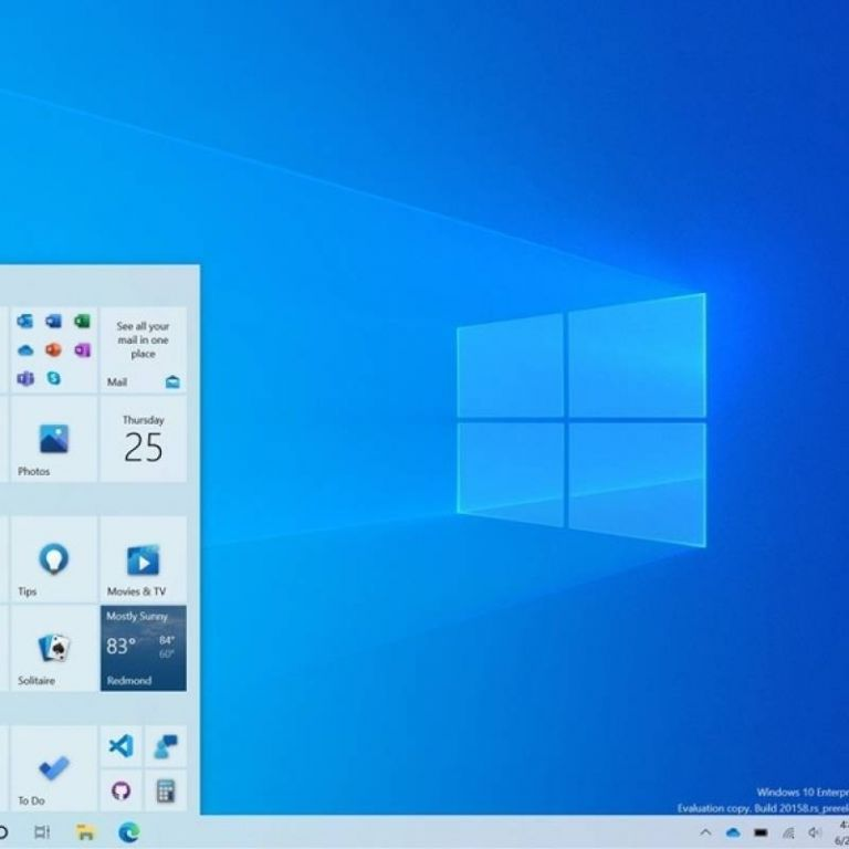 Windows 10 evoluciona: nos muestra su nueva interfaz para el menú de inicio y la barra de tareas