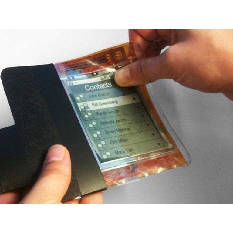 Crean un celular que se dobla como un papel
