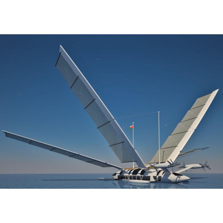 Un Yate-volador para el agua y el aire