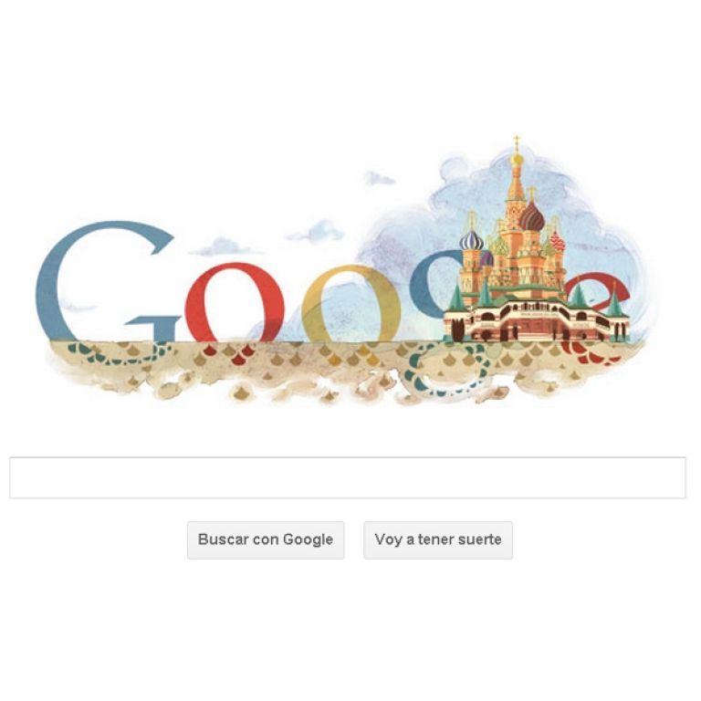 Google rinde homenaje a Rusia con su doodle de hoy