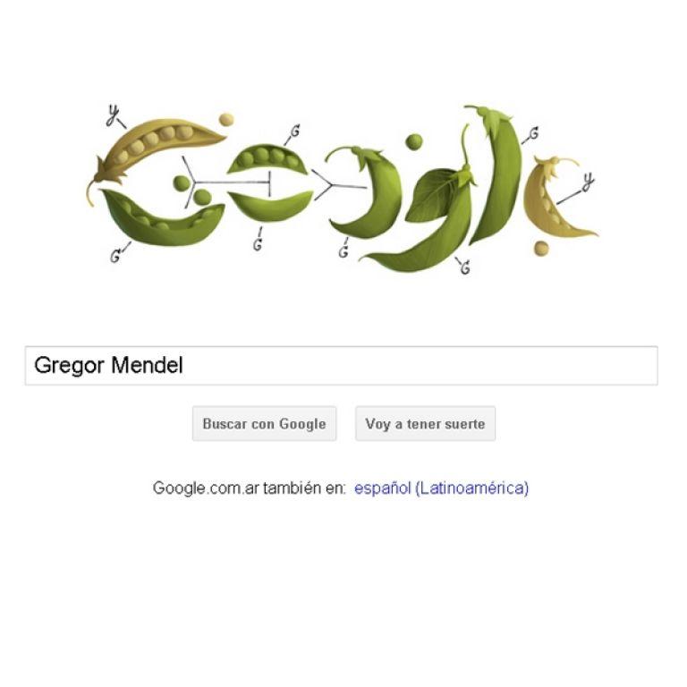 """Google rinde homenaje al """"Padre de la Genética"""" con el Doodle de hoy"""