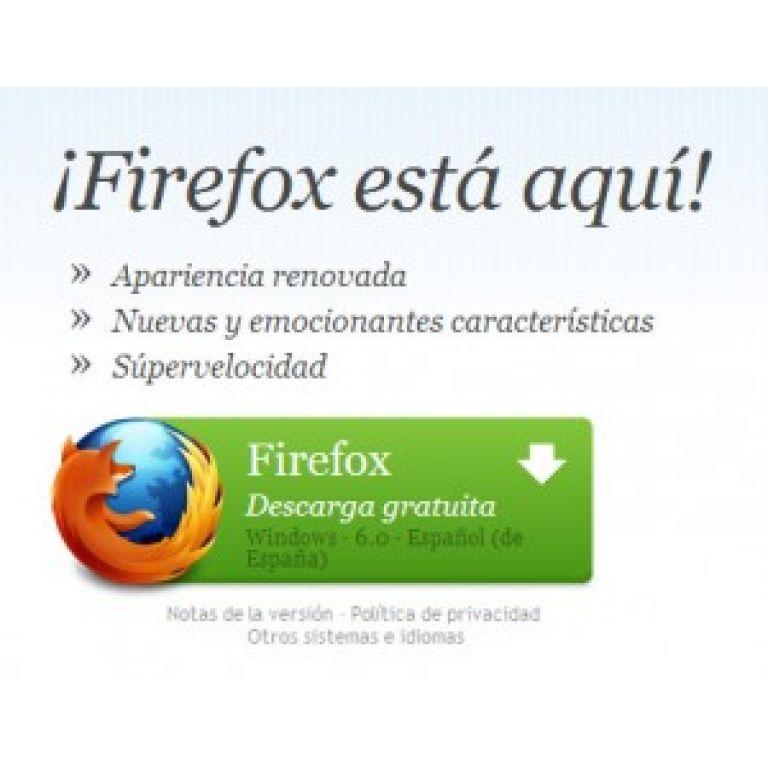 Firefox 6 se vuelve oficial