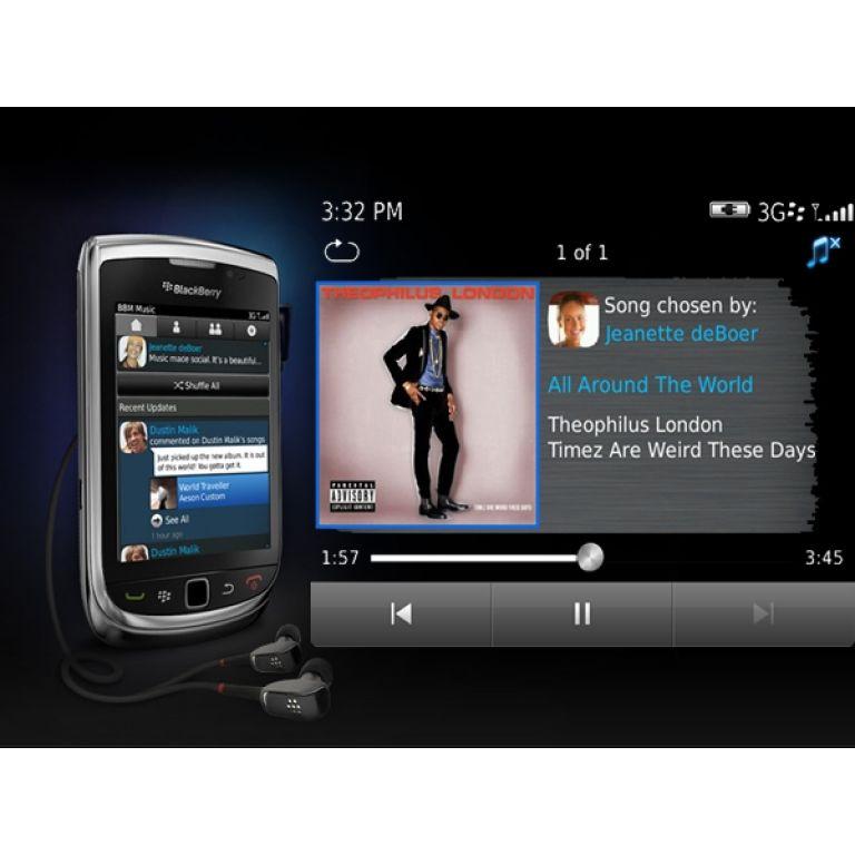 BlackBerry anunció que permitirá compartir música entre sus usuarios
