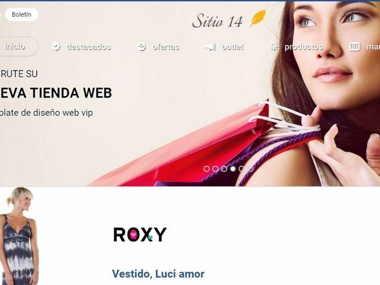 Ejemplo de diseño plantilla 14 para tienda de comercio electrónico. - TIENDA 14 . tienda virtual