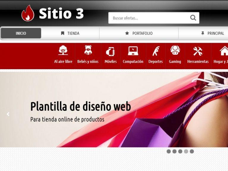 Diseño para tienda con ecommerce. - TIENDA 3 . tienda virtual
