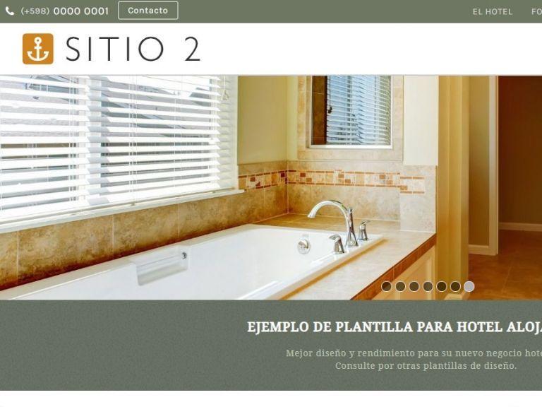 Demo de sitio web para alojamiento hotel. - HOTEL 2 . Diseño sitio web institucional