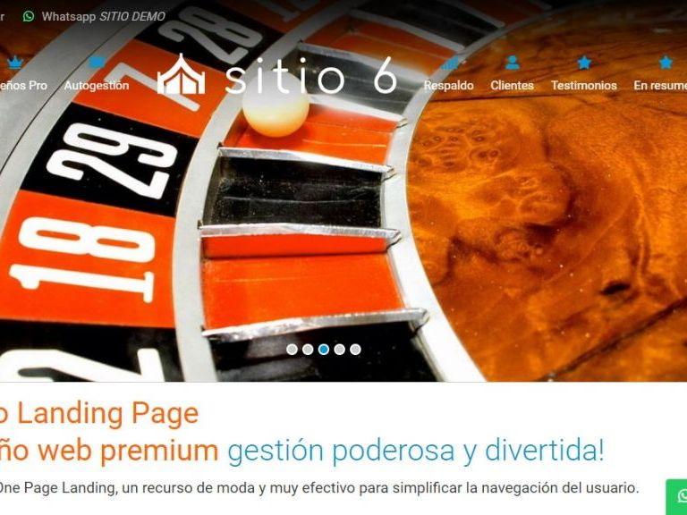 Template de diseño de página landing page ejemplo 6. - LANDING 6, Diseño web landing page