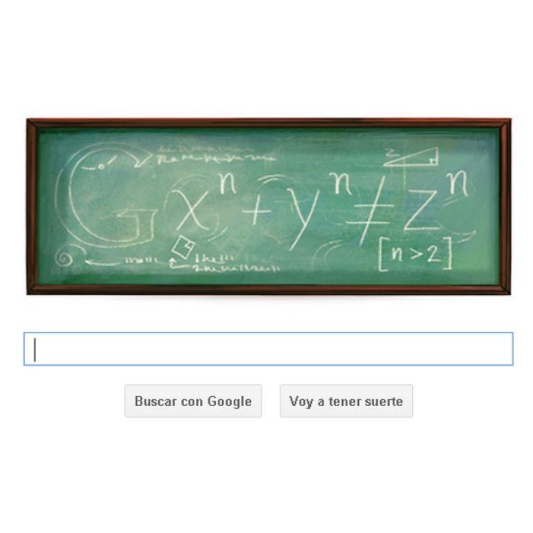 Google rinde homenaje al matemático Pierre de Fermat con un Doodle