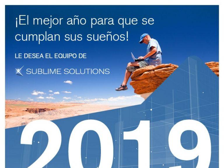 Saludo 2019 clientes sublime solutions