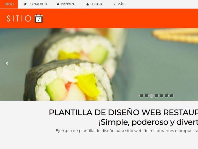Diseño página web restaurante demo. - RESTAURANTE 7 . Diseño sitio web institucional