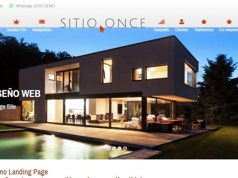 Diseño web landing 11. - LANDING 11, demo de diseño web landing page