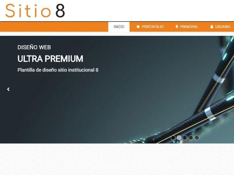 Ejemplo de diseño sitio 8 institucional. - INSTITUCIONAL 8 . Diseño sitio web institucional