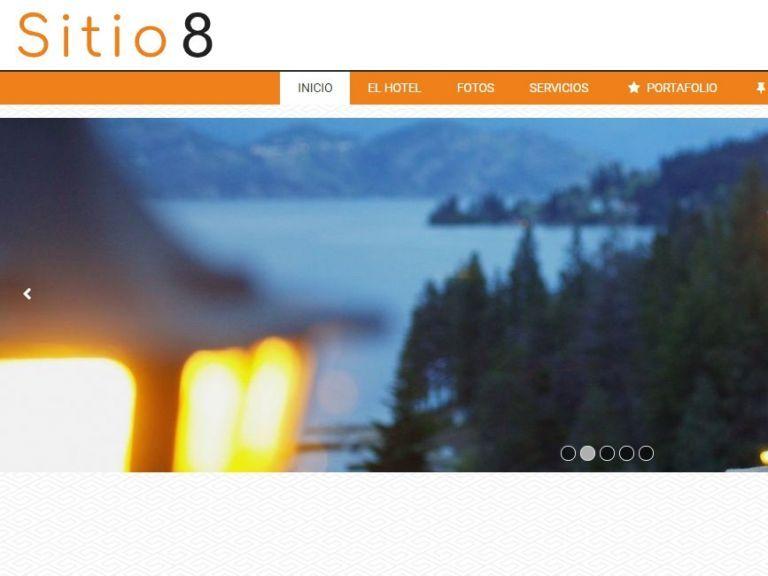 Plantilla diseño hotel alojamiento - HOTEL 8 . Diseño sitio web institucional