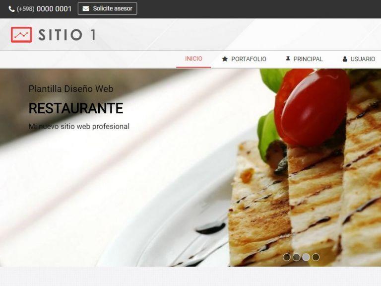 Template plantilla de diseño para restaurante. - RESTAURANTE 1 . Diseño sitio web institucional