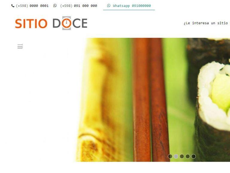 Sitio web para restaurante con lo mejor en diseño web - RESTAURANTE 12 . Diseño sitio web institucional